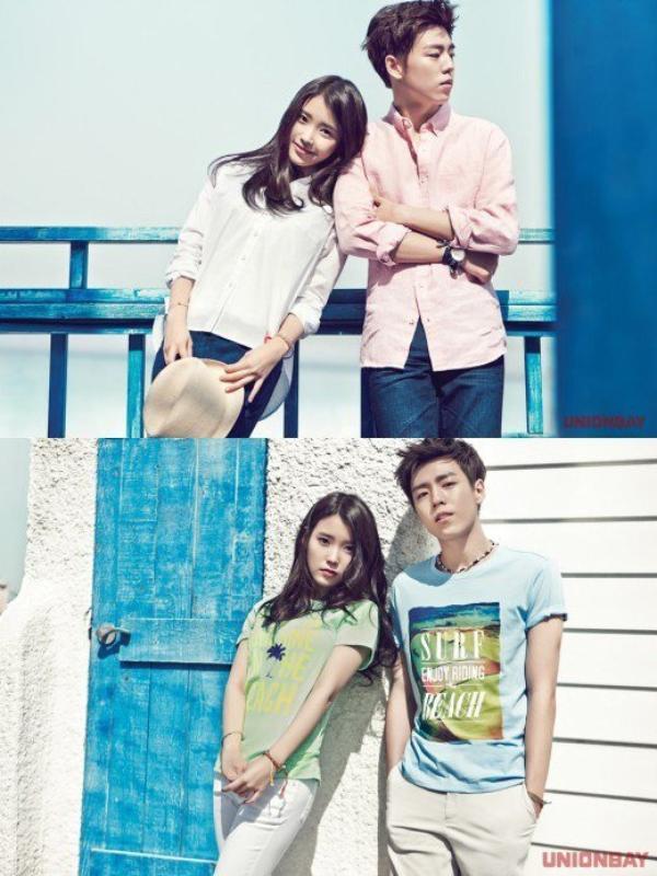 """사진    IU (Lee Ji Eun) et  l'acteur   Lee Hyun Woo  pour """"UnionBay"""""""