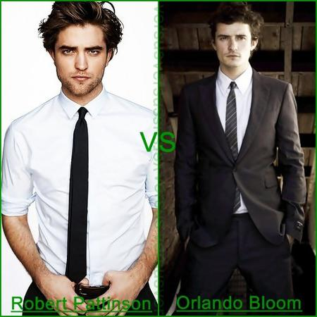 ### Robert Pattinson # vs # Orlando Bloom ###