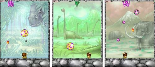 Un voyage au temps des dinosaures t'attend dans le jeu d'adresse Dino Eggs