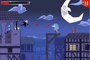 Dracula Quest: run for blood ! : un jeu de saut sanglant, mais amusant !