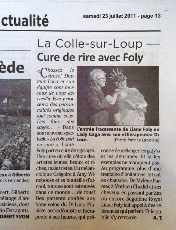 Quand la Presse parle de Liane Foly.