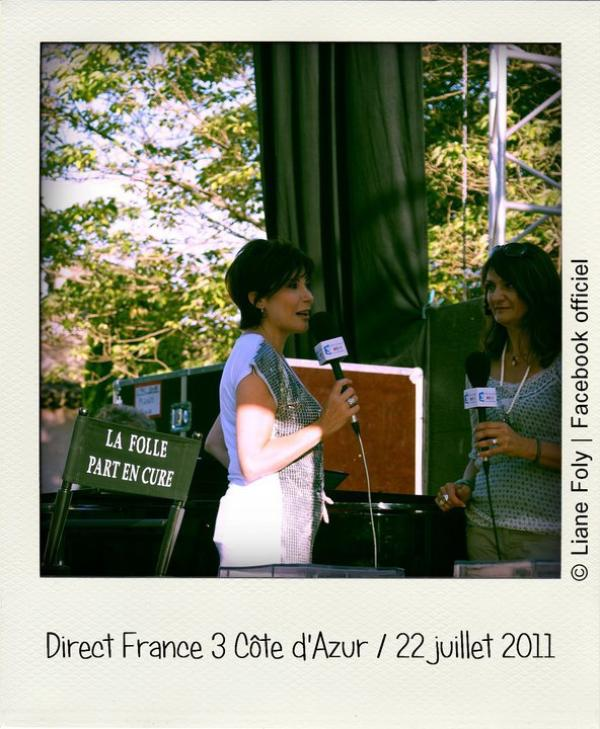 Liane Foly a la Côte d'Azur.