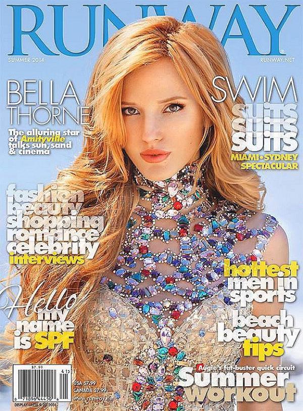 Bella fait la couverture du magazine américain Runway pour l'été 2014.