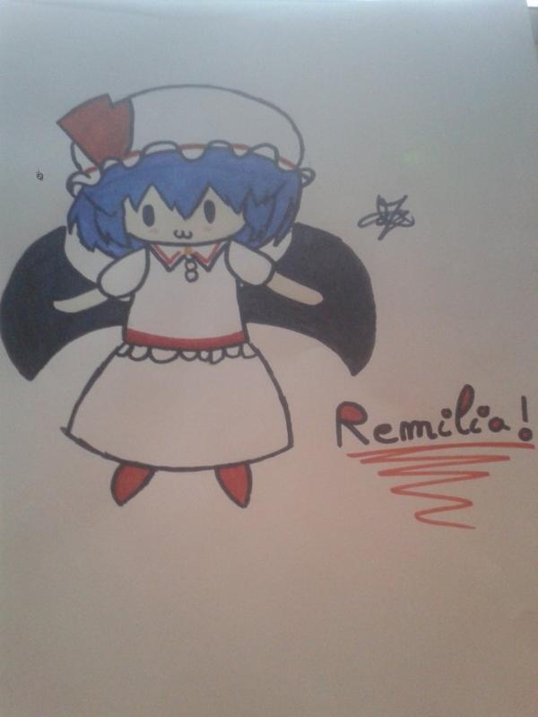 Dessin de Remilia dans Touhou !! *.*