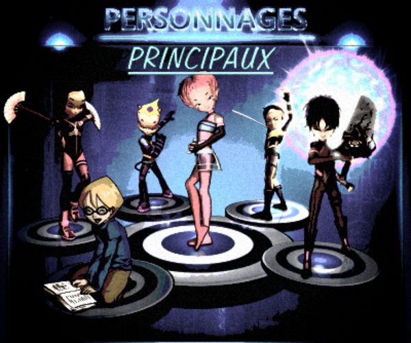 Les personnages principaux de code lyoko