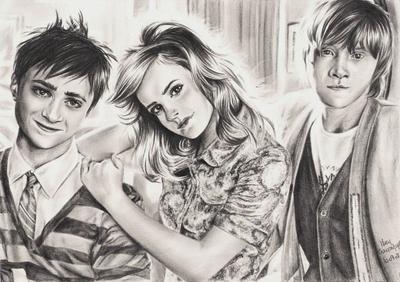 (493) - Daniel Radcliffe, Emma Watson et Rupert Grint