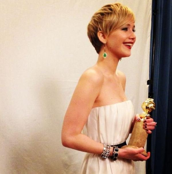 Golden Globes with Jennifer Lawrence