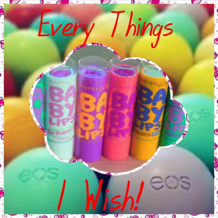Wish List #1 : Lip Balm Eos / Baby Lips