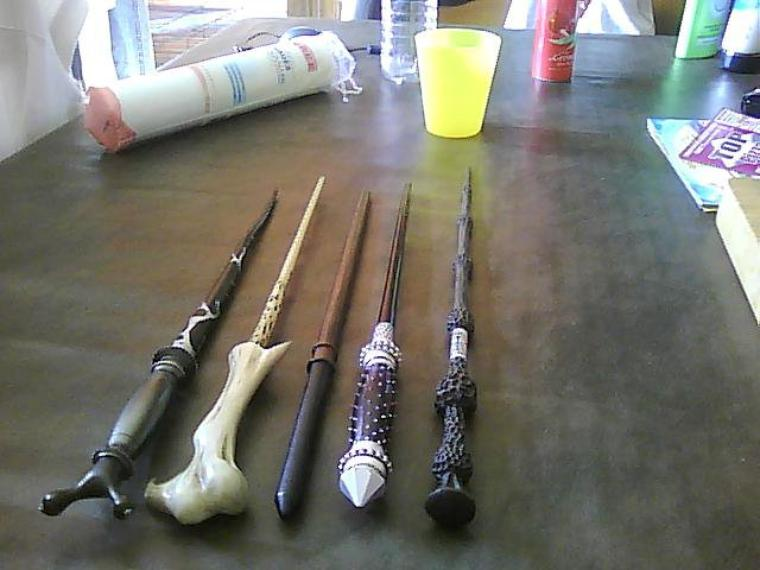 Récapitulatif de mes baguettes Harry Potter .