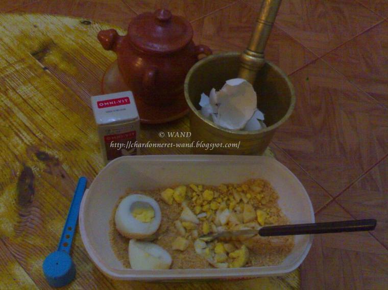 Composition de ma pâtée pour chardonnerets et canaris © WAND