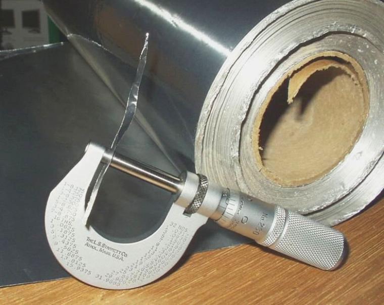 La feuille d'aluminium
