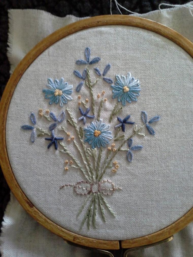 bouquet bleu