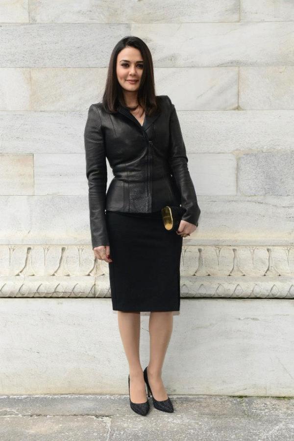Preity Zinta at the Roberto Cavalli Fashion Show in Milan