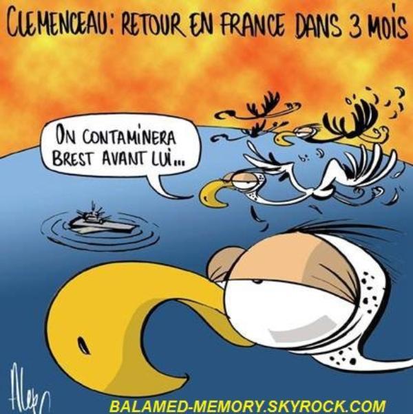 HUMOUR DE LA SEMAINE : Le Clémenceau vs. grippe aviaire