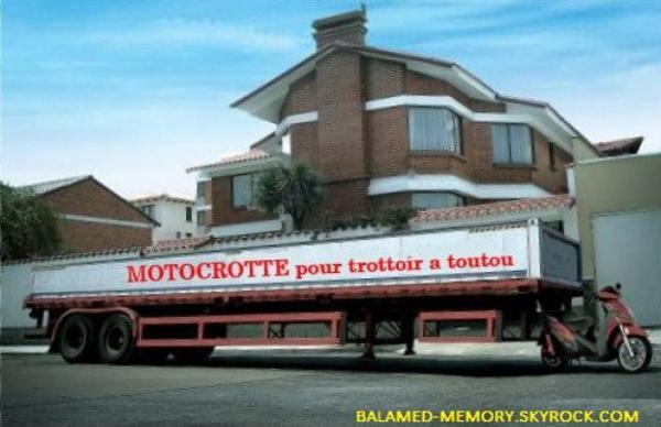 HUMOUR : Big motocrotte