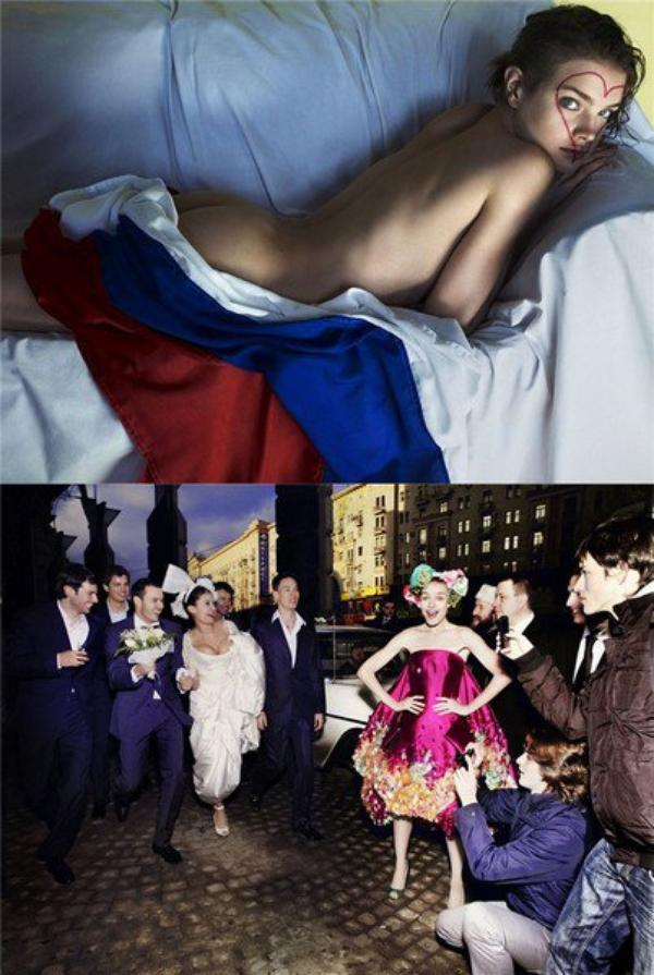 Souvenez-vous: Vogue UK Mai 2008 (Russia with love) par Mario Testino