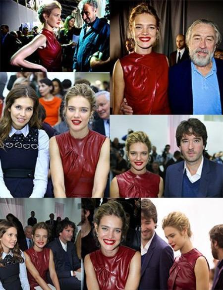 Apparition: Doublage des voix pour Belle du Seigneur: Septembre 2012 ; Dior front row S/S 2013 Paris Fashion week 2012 ; Natalia qui va chercher ses enfants à l'école à Paris: 28 Septembre 2012