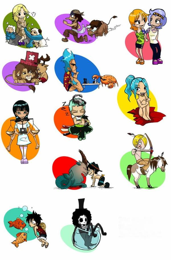 Signes du Zodiaque One Piece