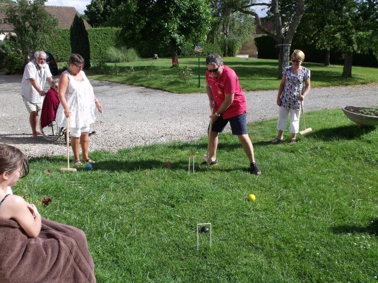 4eme et cloture des jeux le croquet