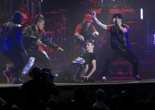 Justin bieber underwear concert