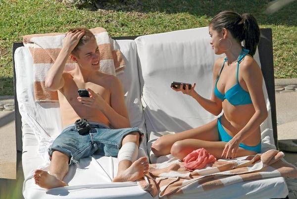 Justin-bieber-underwear à la piscine