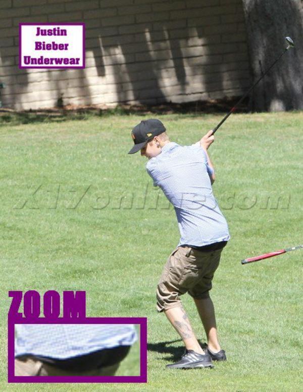 Justin, très SEXY quand il joue au golf !!!
