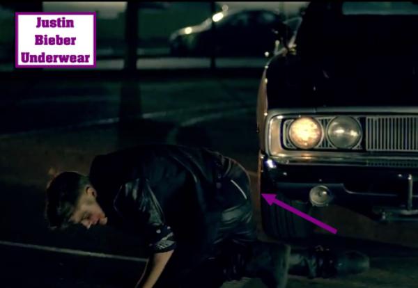 Apparition du boxer noir de Justin dans son nouveau clip !!!