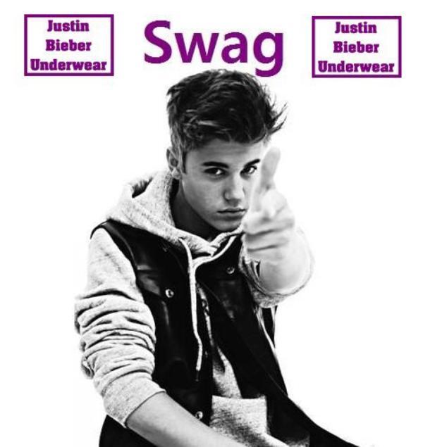 Photo SEXY de Justin en noir et blanc !!!