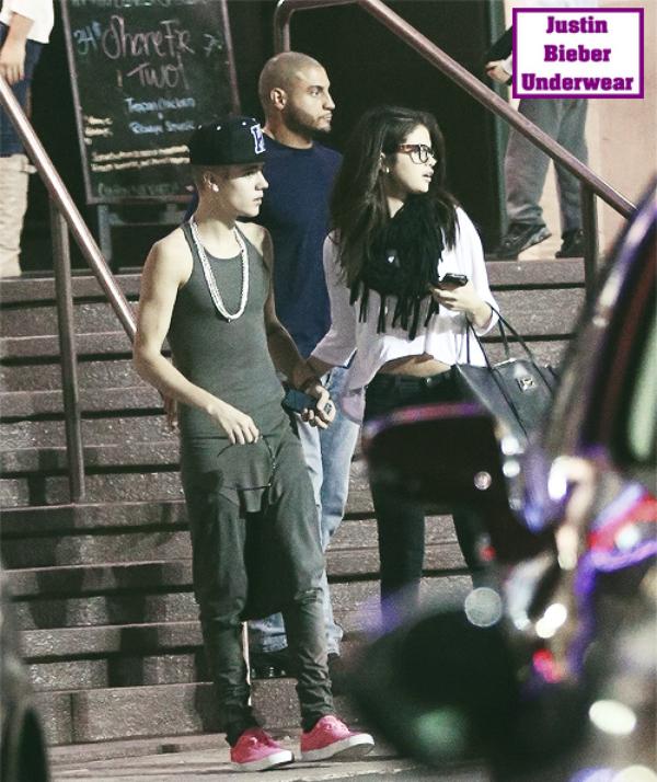 Justin, habillé de gris moulant : SEXY !!!