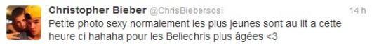 Christopher Bieber presque nu pour faire plaisir à ses fans ! On Adore *-*