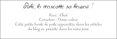 Poki, la mascotte officiel du blog !