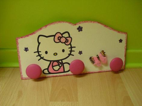 "Porte Manteau ""Hello kitty"""