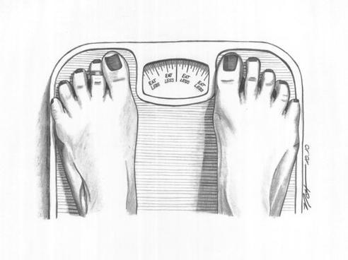 """"""" La balance ne fait pas la différence entre la graisse, les muscles, les os et l'eau corporelle. """" - MotiveWeight"""
