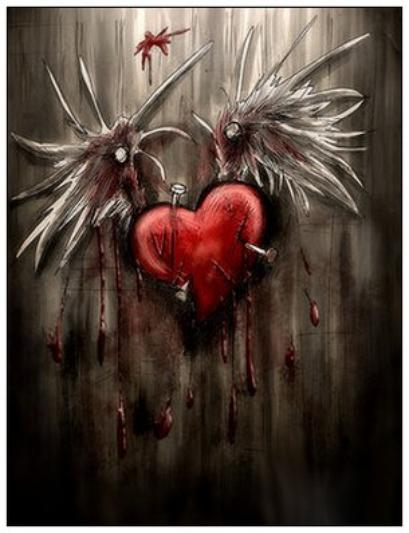 C½ur meurtri, rêves brisées...