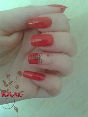 Nail art rouge corset