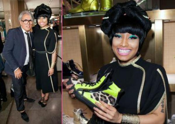 Nicki Minaj' ; s Multi-Arrêtent la nuit de mode dehors