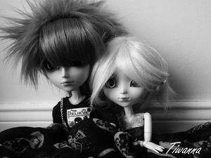 Loudmila et Arashi en histoire muette :3