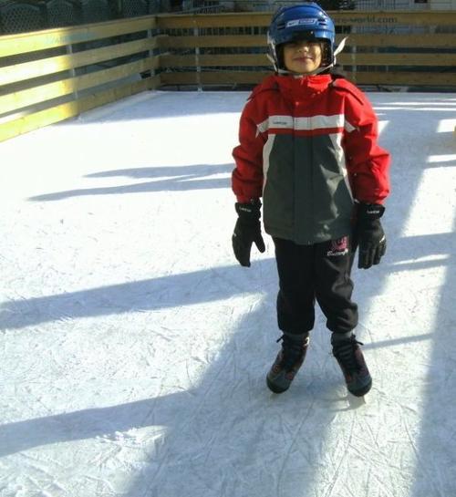 ma fille a la patinoire