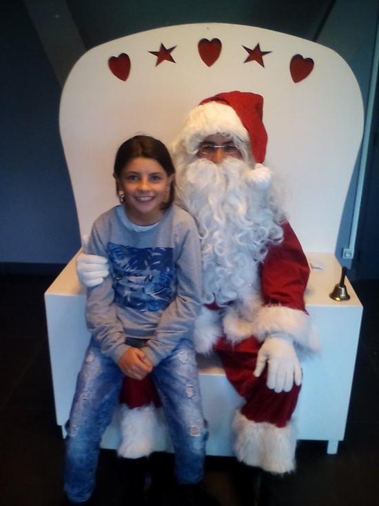 La fille et le Père Noël