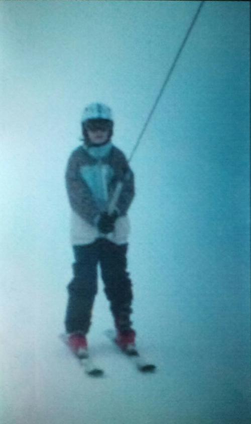 Ma fille au ski