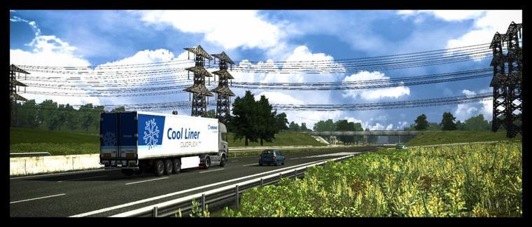 Autoroute en France, Cool Liner terminée et Mega Liner WIP