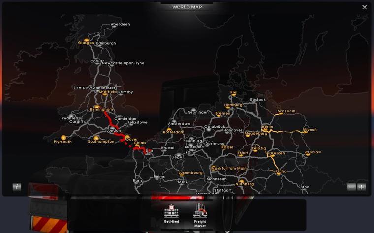 Euro Truck Simulator 2 - Carte terminée