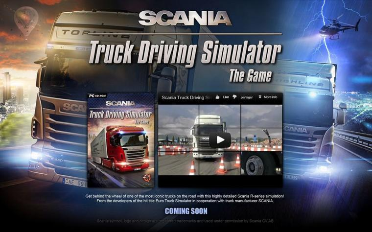 Scania Truck Driving Simulator - Site bientôt ouvert !