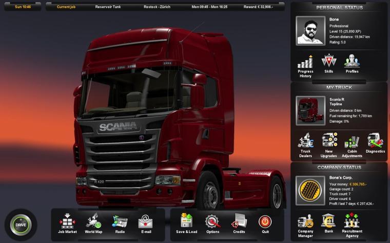 Euro Truck Simulator 2 - Bureau