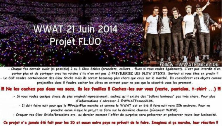 les projet du were we are tour Paris stade de france :) <3 <3 <3