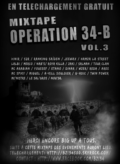 "B.Z.I : Présente la Mix-Tape "" OPERATION 34-B "" Volume 3"