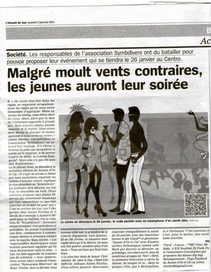 """Les Jeunes d'oc & Cie Présente  """" Soirée Hip-Hop """" le Samedi 26 Janvier a partir de 20H"""