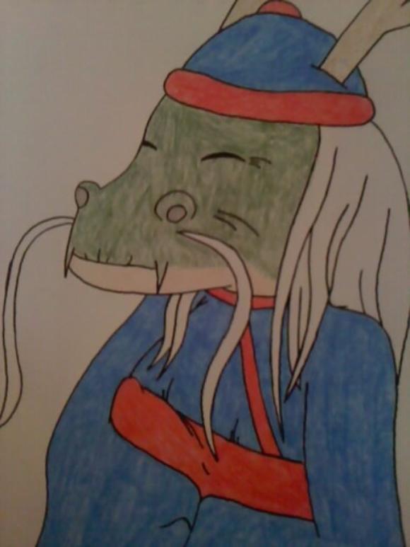 Voilà un dessin de Cramo le barman et propriétaire du Draconoide ^^