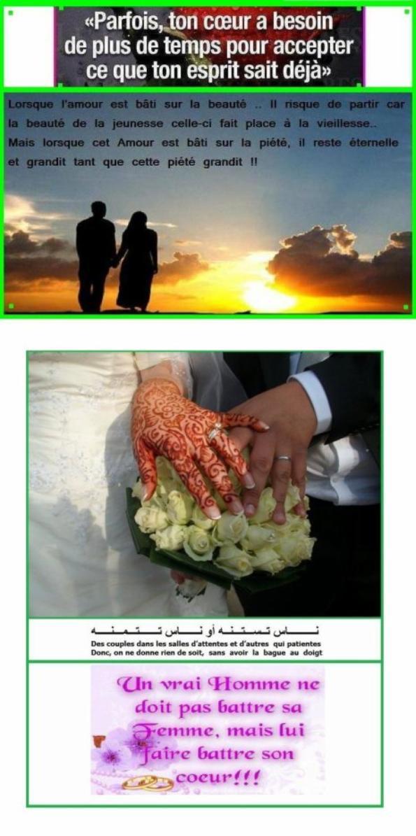 ---------------------------------=o(   Un beau message qui facilite le mariage.  )o=--------------------------------