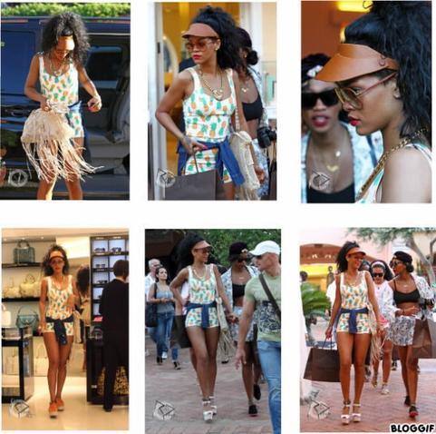 Vacances de Rihanna en Italie
